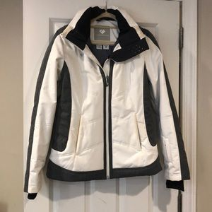 Obermeyer - White and Grey - Ski Jacket